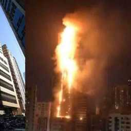fire accident at sharjah abbco tower