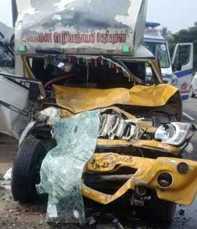 accident in chennai bengaluru highway
