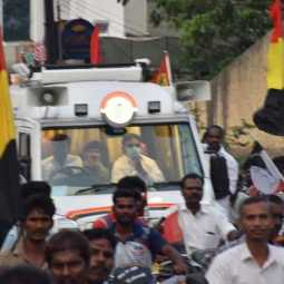 DMDK Vijayakanth election campaign at trichy