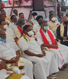 """The struggles against Kiranpedi and the Central Government will continue ..."" - Narayanasamy"