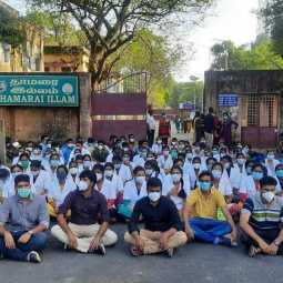 Students protest at Raja Muthiah Medical College Hospital