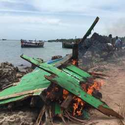 rameshwaram sea area boats damaged fishermans