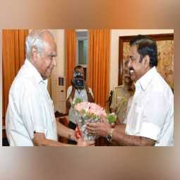 TAMILNADU CM PALANISAMY MEET GOVERNOR FOR TODAY