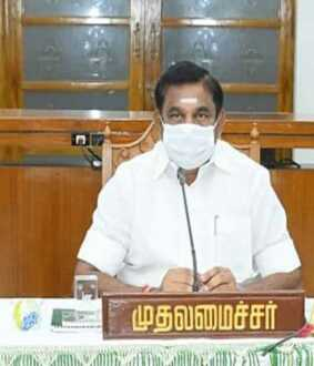 tamilnadu cm palanisamy meet with governor for today evening