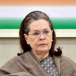 Sonia Gandhi resigns as caretaker Congress president