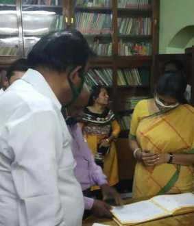 DMK MP Kanimozhi visits erode and addressed press