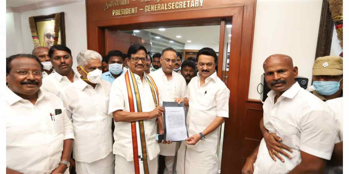 Number of constituencies allotted to Congress ... DMK-Congress constituency allotment signed!