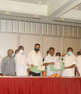 admk and pmk alliance conformed agreement signs at star hotel