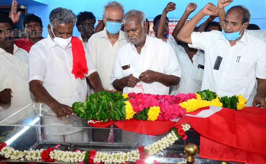 various political leader pay tribute to pandian communist party