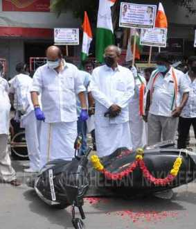 congress struggle in chennai thandaiyarpet