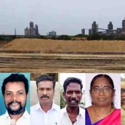 Panchayat President - struggle to support farmers - sendurai - Cement Factory Road