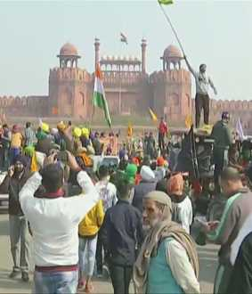 farmers reached delhi red fort police