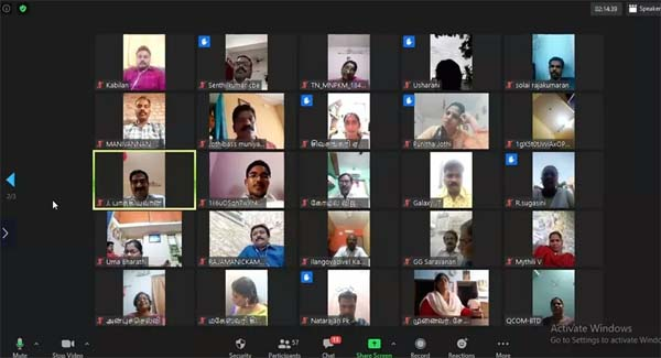 kalaignar birthday - video conference Kavi Arangam