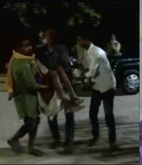 uttarpradesh oldman hit by a man