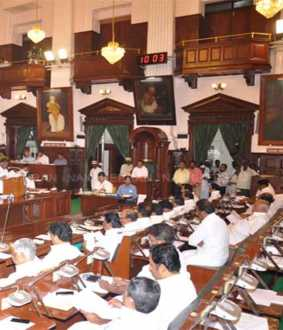 tn assembly second day Agriculture Zone - DMK's Chief Minister's Question