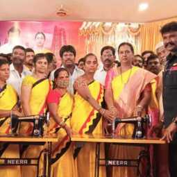 Premalatha vijayakanth press meet at theni