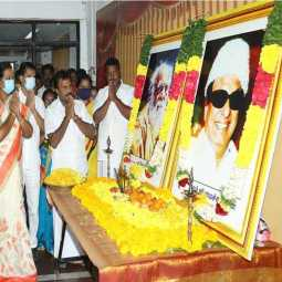 periyar and mgr dmdk tributes at chennai