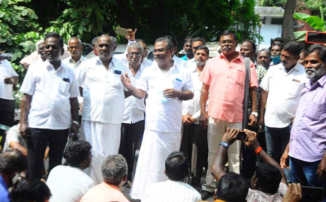 opposition on behalf of CITU ... (Pictures)