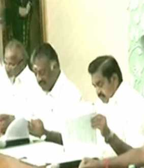 The four constituent byelection-AIADMK candidate interview started