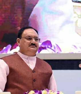 modi congratulates j.p.nadda in person