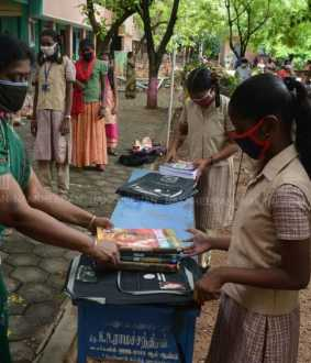textbook distribution for school students in chennai