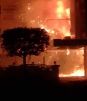 corona center fire accident at vijayawada
