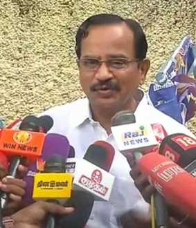 tamilaruvi manian press meet at chennai poes garden