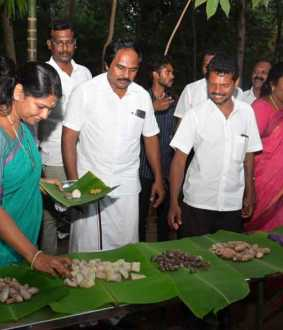 3 km boat trip ... Kanimozhi who loved the food of the tribes ..!