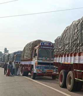 Capture of tax free paddy procurement trucks!