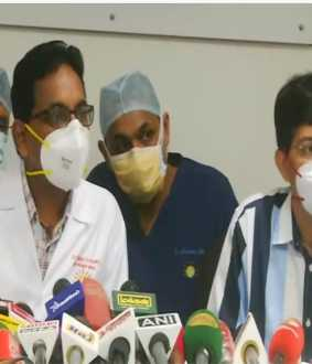 actor vivek health condition doctors and health secretary pressmeet