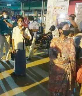 The collector who kept the passengers in the hotel, including the women who were stranded at the bus stand!