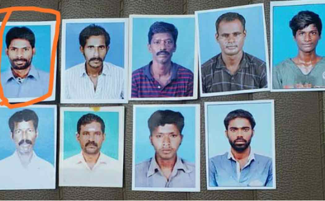 One of the fishermen who was returning to Chennai from Myanmar was missing