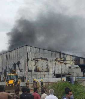 Fire accident in manali sipcot
