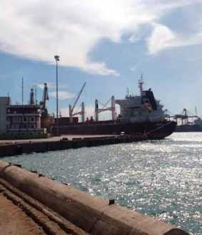 Hong Kong cargo ship stop at Tuticorin port ...