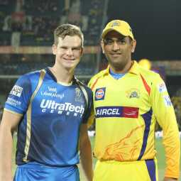 Dhoni with Steven