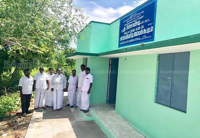 thiruvanamalai keelpennaththur assembly mla sudden visit building contractors shock