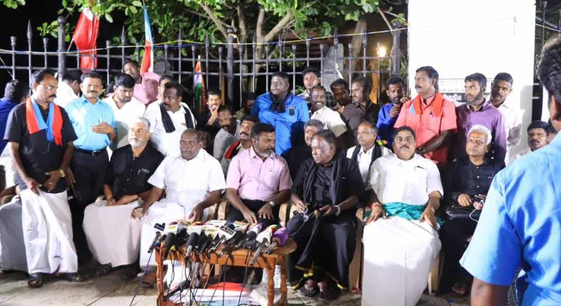 Narayanasamy Dharna struggle is temporary withdrawal