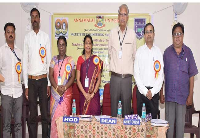 ANNAMALAI UNIVERSITY ENGINEERING SEMINAR STUDENTS AND PROFESSORS