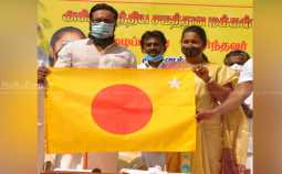 Sarathkumar unveils party flag and Vashti color !! (Pictures)