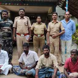 Four fishermen arrested in pudukottai