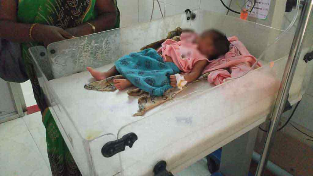 Mother thrown the baby after 10 days of birth.. police investigation