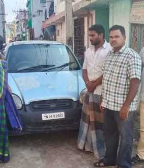Ration rice in a car vellore district police arrested two
