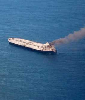 new diamond ship fire accident