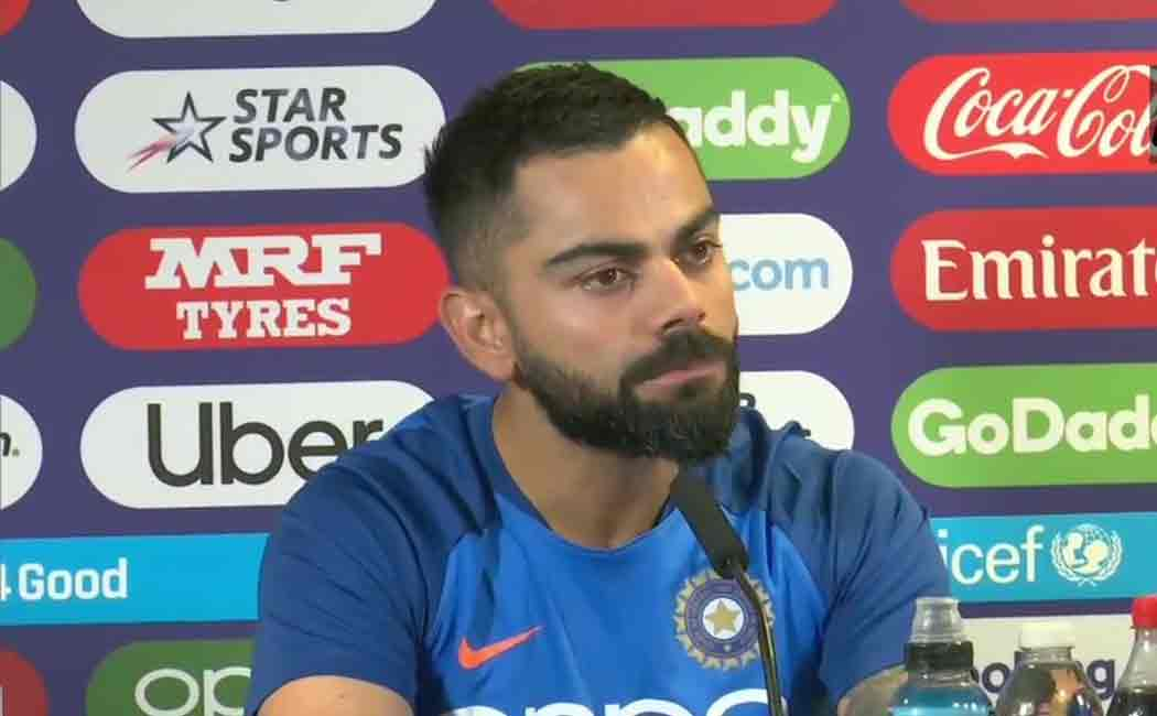 kohli about dhoni bating and team india's form