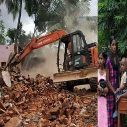 kanyakumari District administration demolished 48 houses