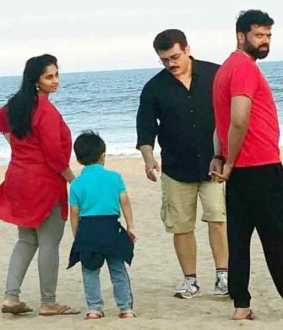 ajith want freedom... ajith in public place