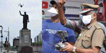corona virus issue - chennai police commissioner a. k. Viswanathan - drone camera -