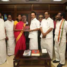 congress candidate Meet m.k.stalin