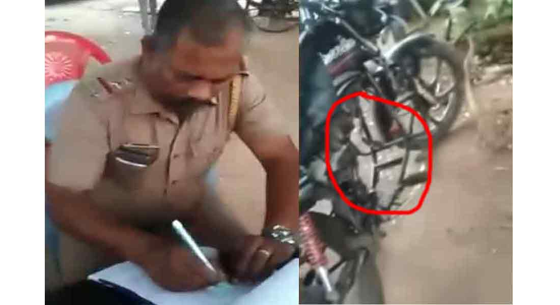 Fined for engine less bike... Viral Video