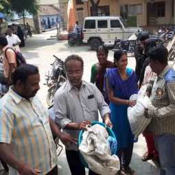 vellore corporation office peoples collect waste disposed at office